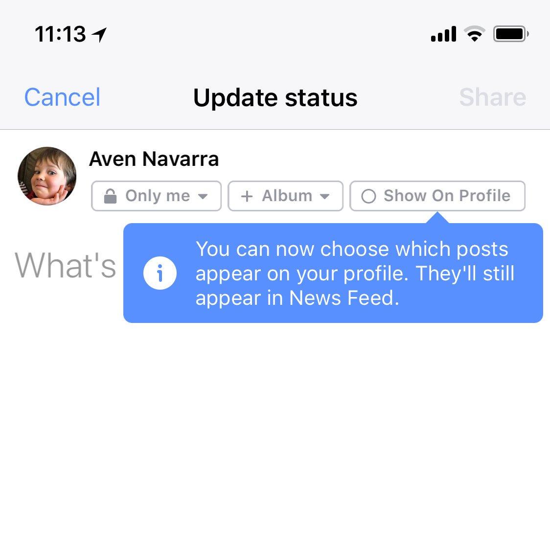 facebook news feed postare
