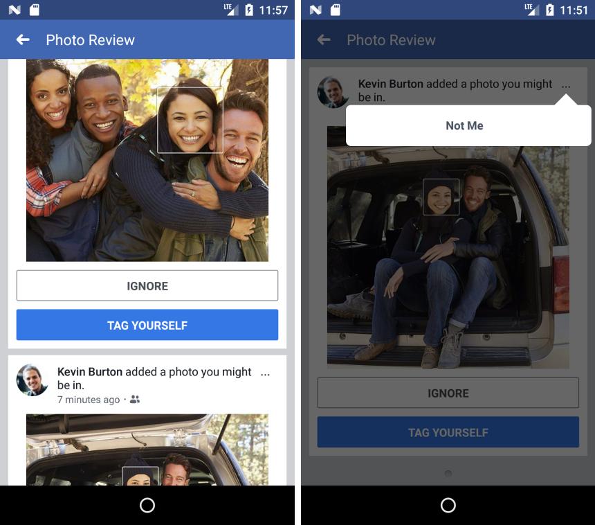 facebook recunoastere faciala tag