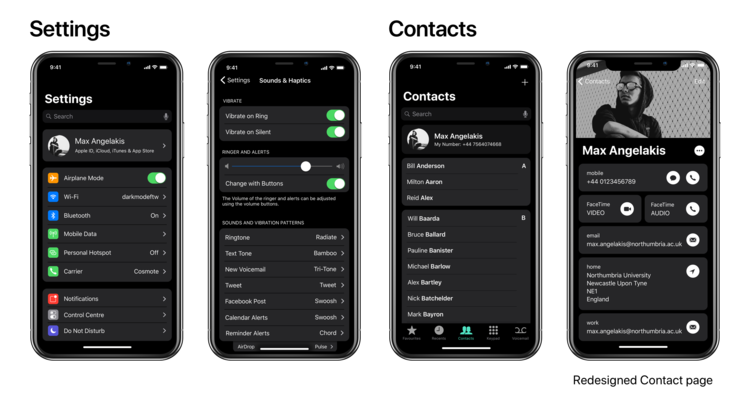 iPhone X Dark Mode concept 2