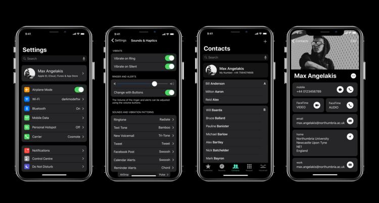 iPhone X Dark Mode concept 2