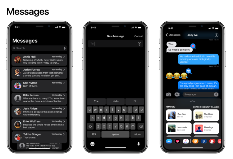iPhone X Dark Mode concept 3