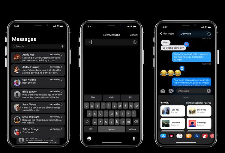 iPhone X Dark Mode concept 3