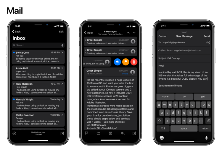 iPhone X Dark Mode concept 4