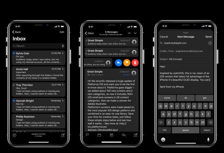 iPhone X Dark Mode concept 4