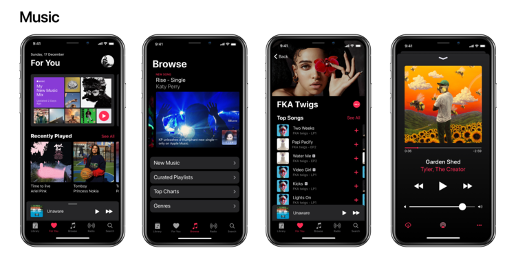 iPhone X Dark Mode concept 6