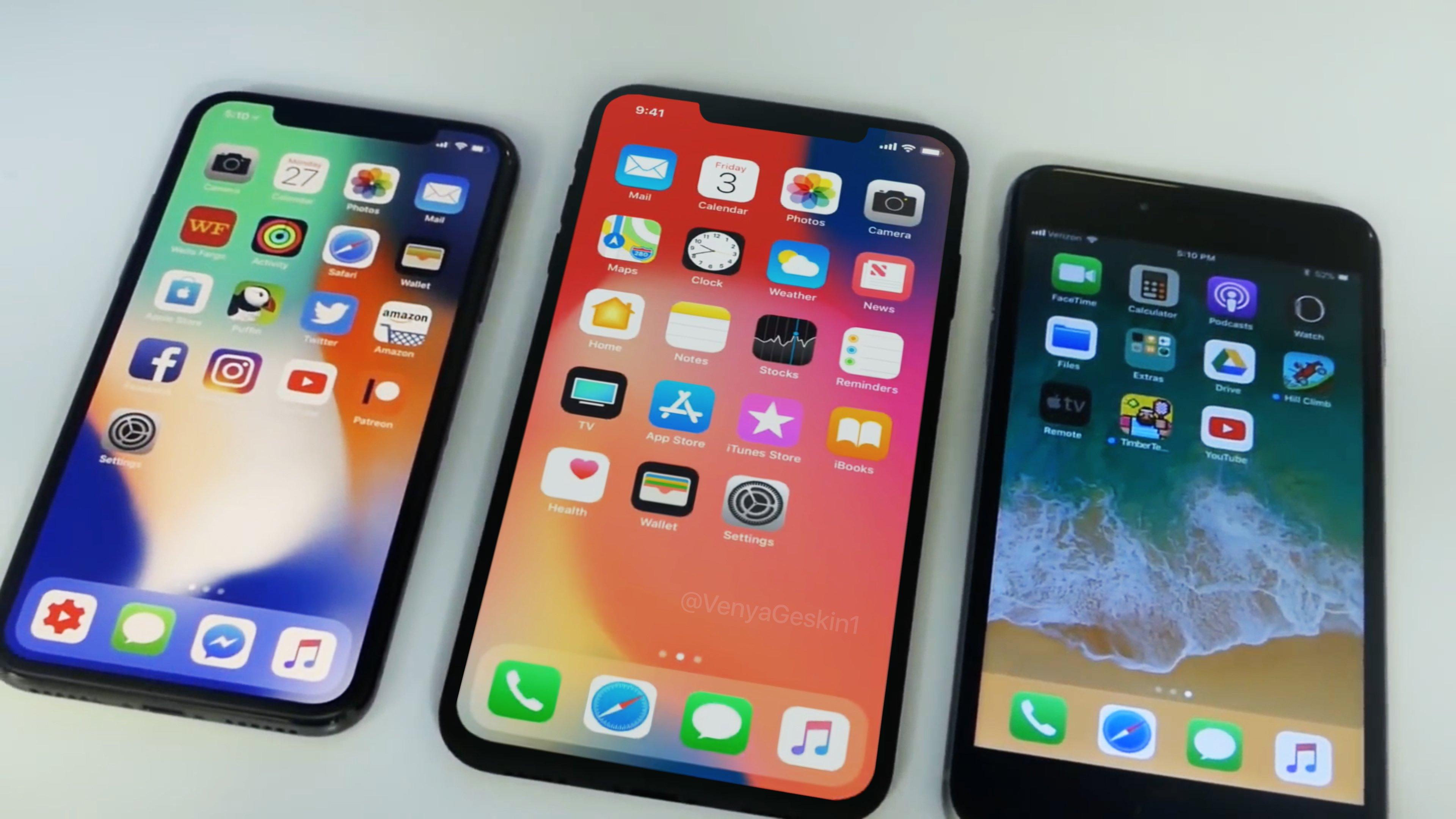 iPhone X Plus comparat iPhone X si iPhone 8 Plus