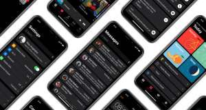 iPhone X dark mode concept