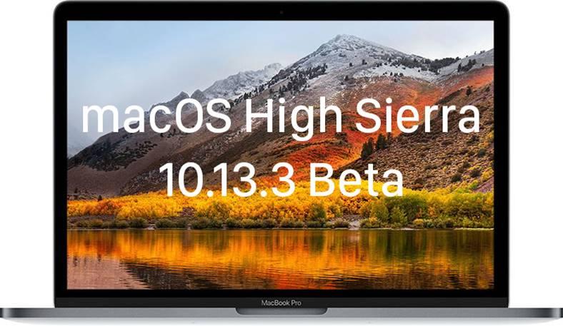 macOS High Sierra 10.13.3 beta 2