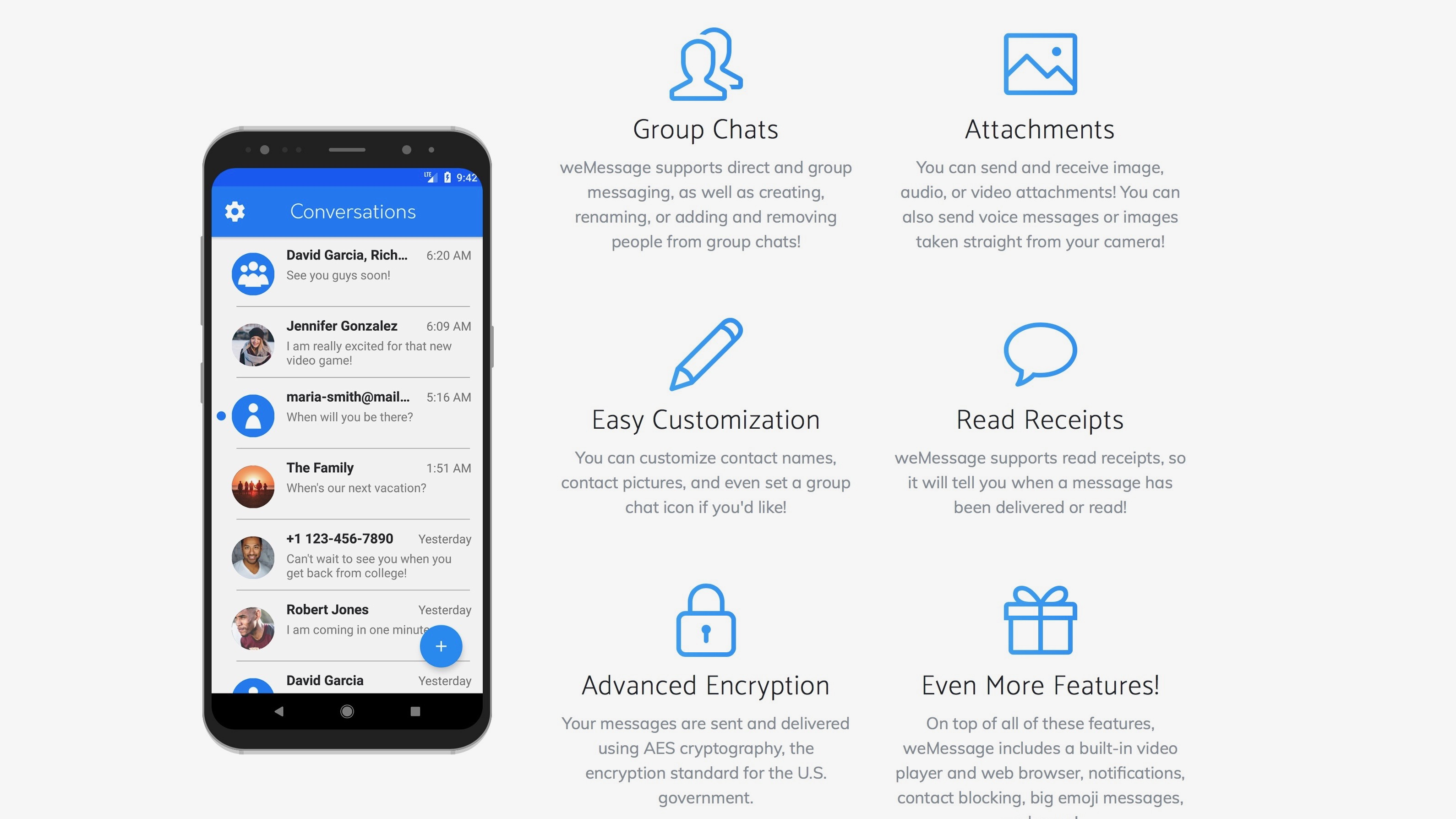 weMessage Android iMessage