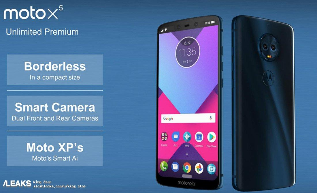 Moto X5 copie iPhone X