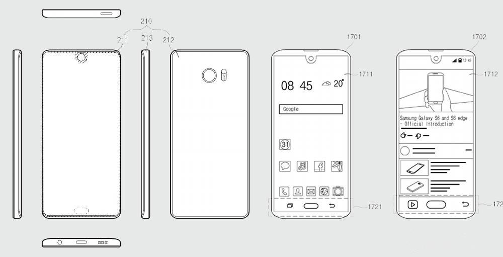 Samsung copiat decupaj iPhone X