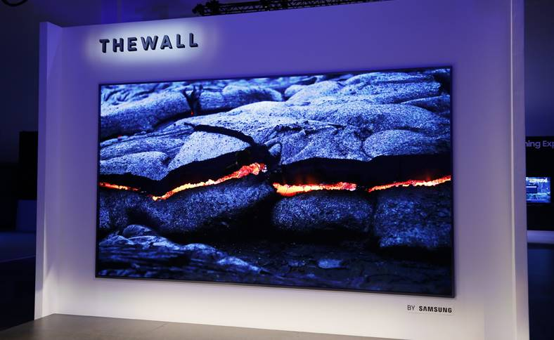 ces 2018 the wall samsung televizor microled