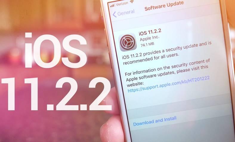 iOS 11.2.2 performante ios 11.2.1 iPhone