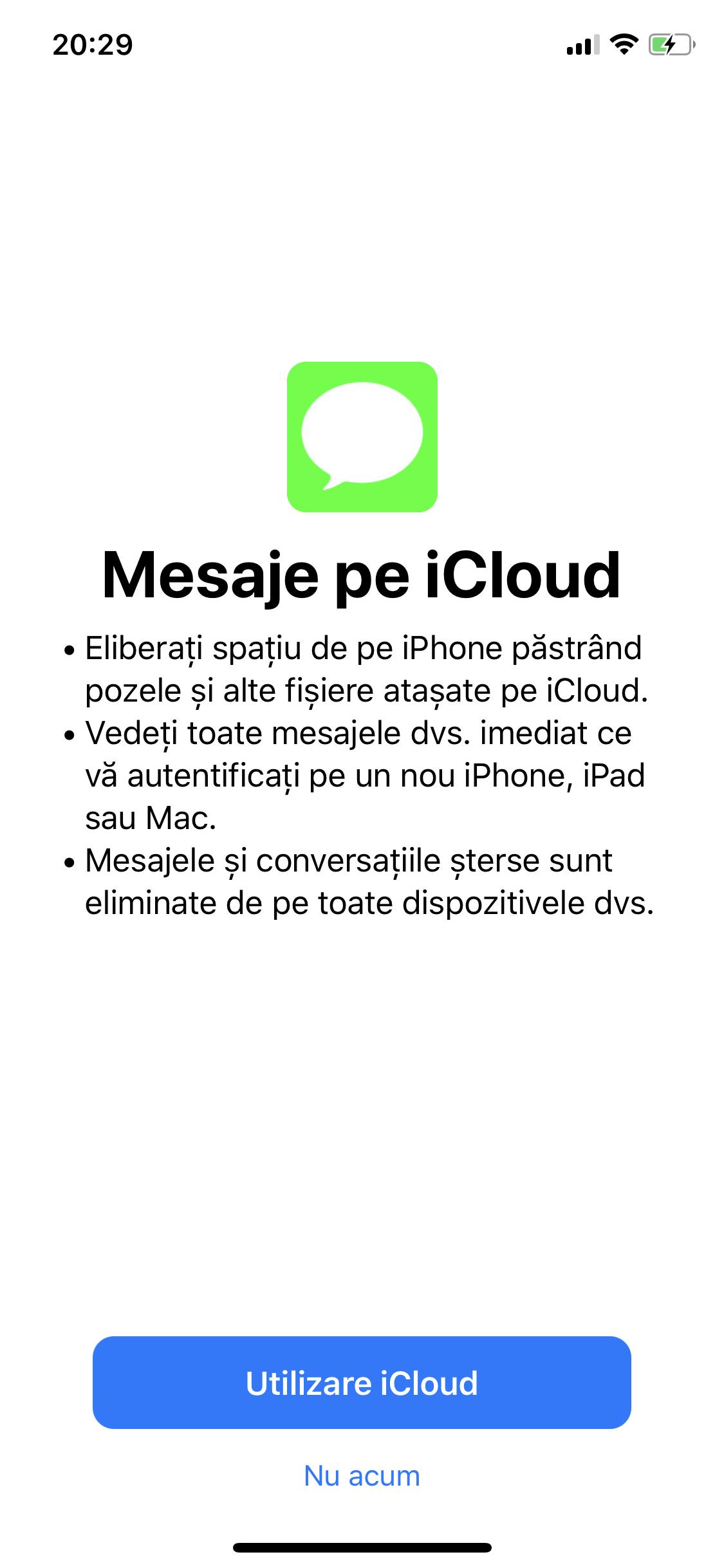 iOS 11.3 mesaje iCloud