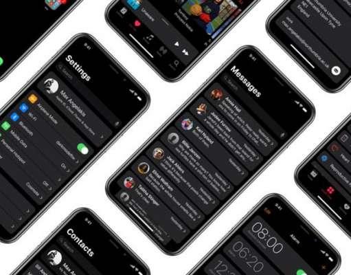 iPhone X dark mode