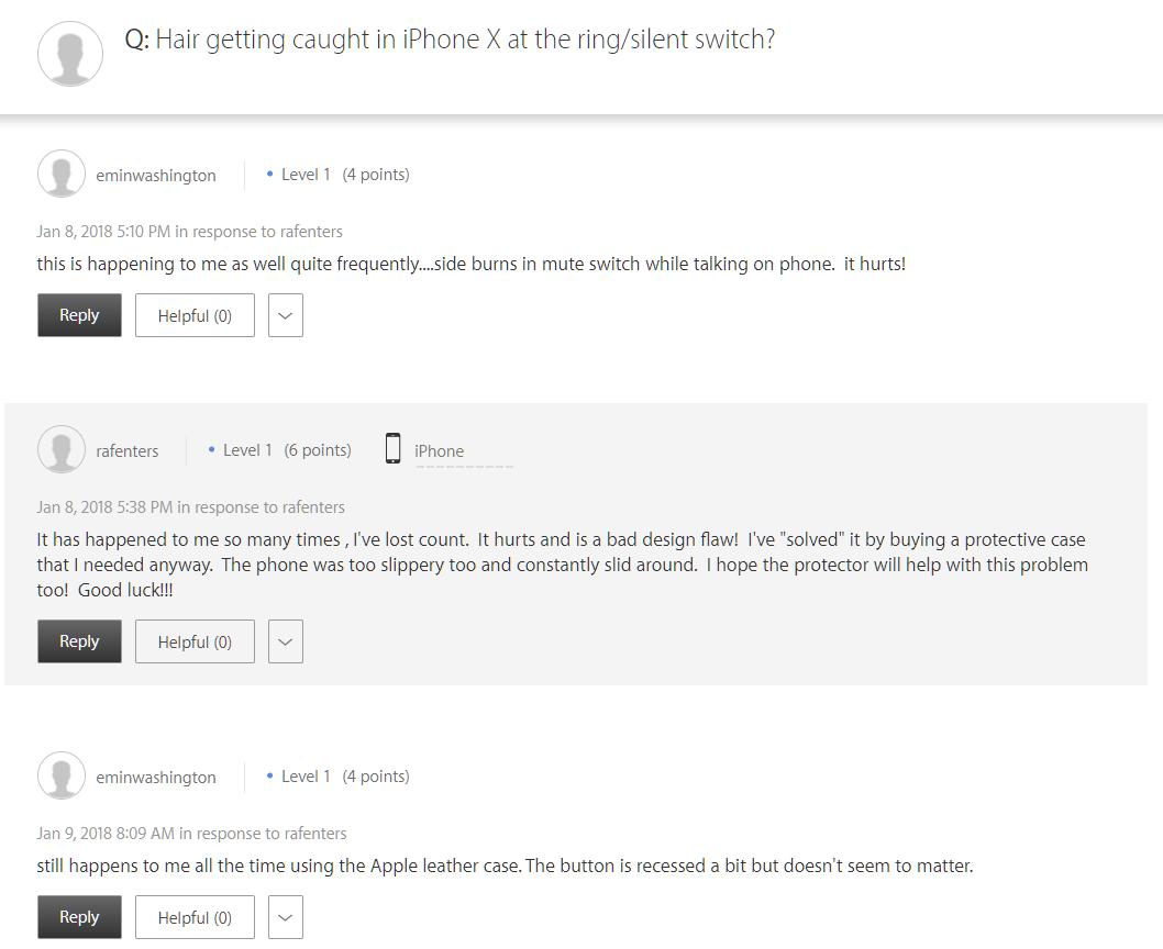 iPhone X smulge par