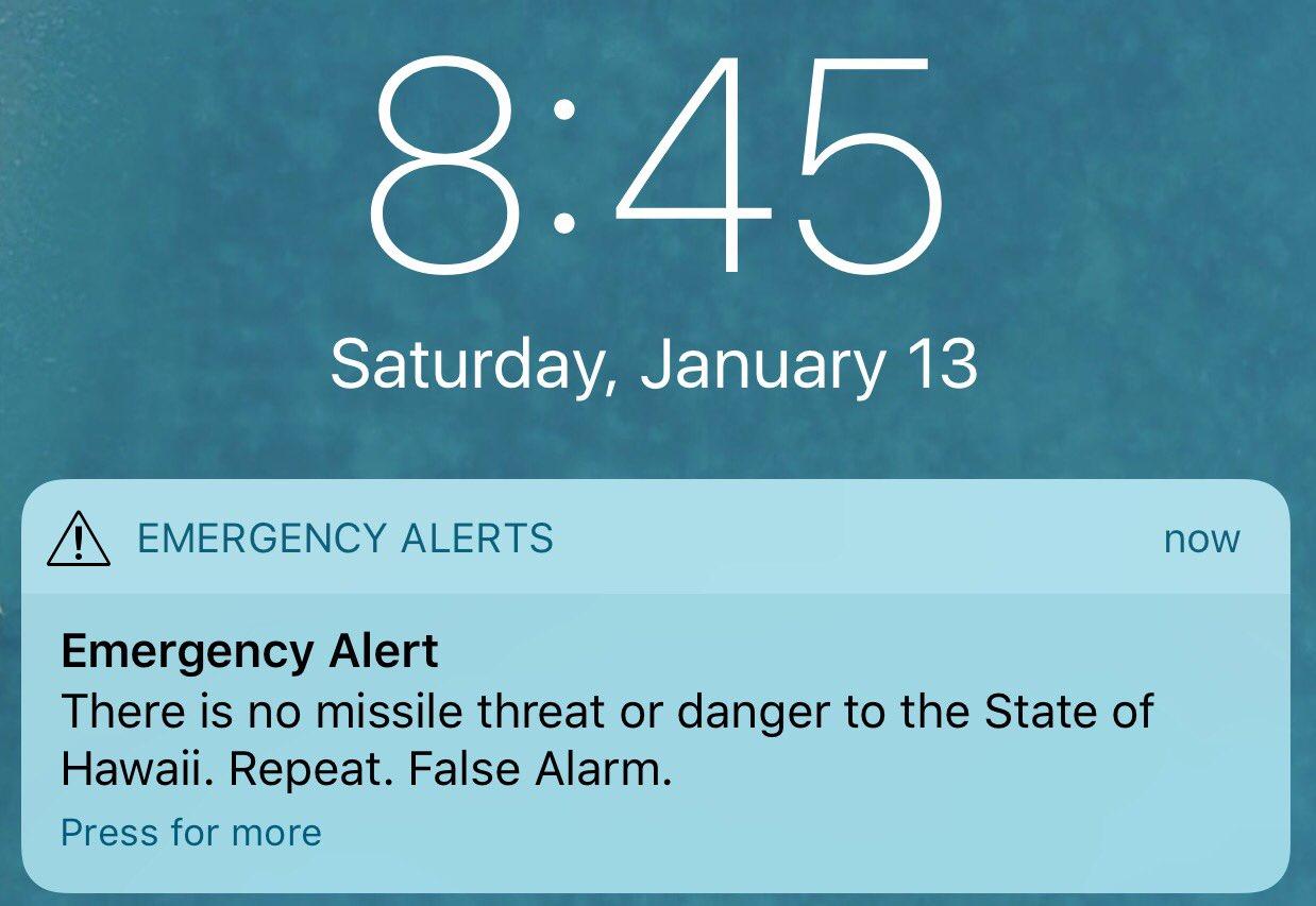 iPhone alerta racheta balistica