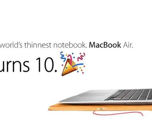 macbook air 10 ani