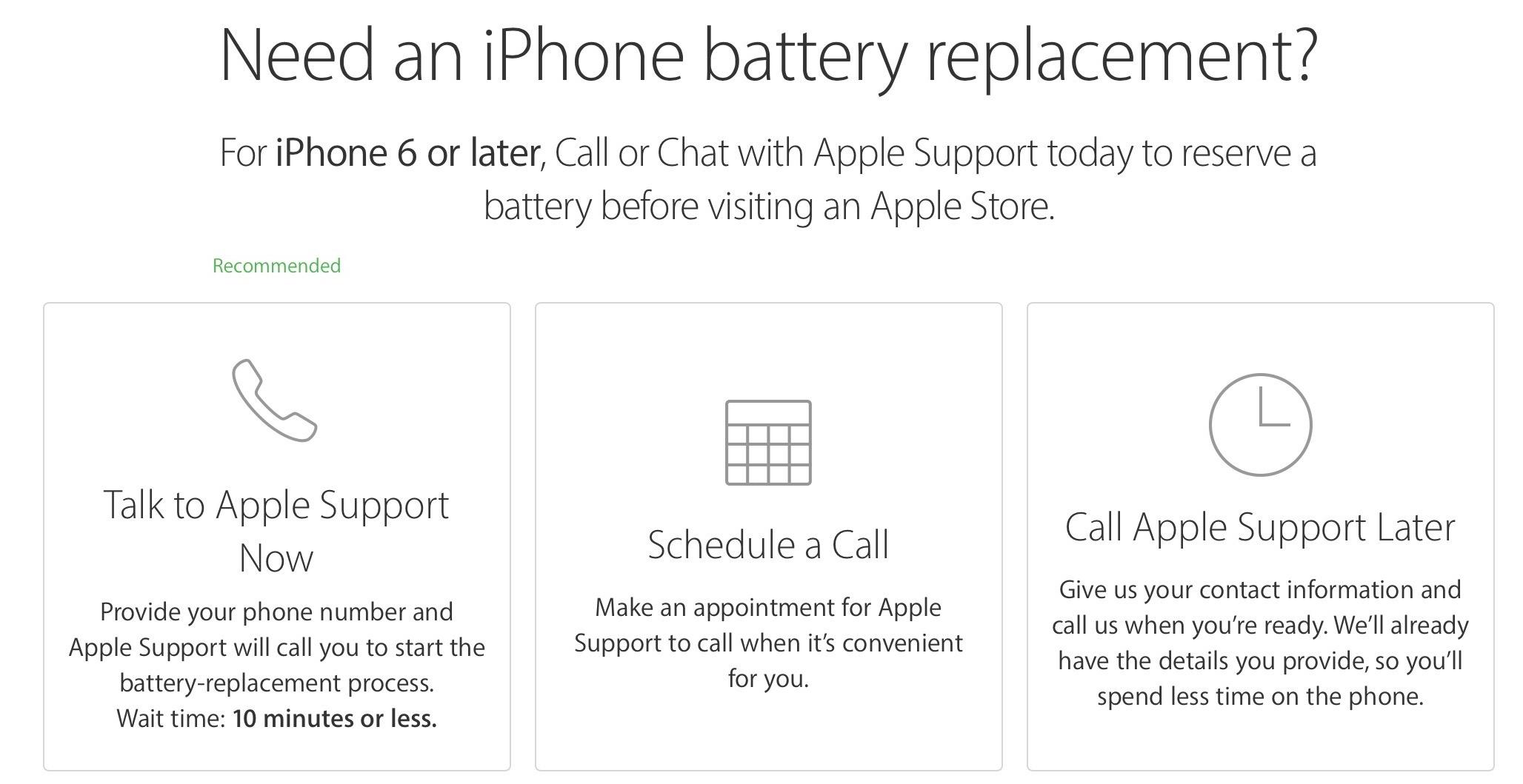rezervare baterie iPhone