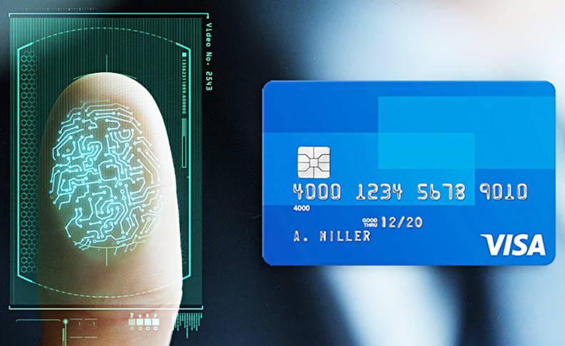 visa card amprente pin