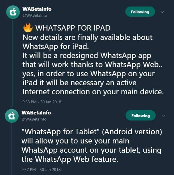 whatsapp ipad android secret