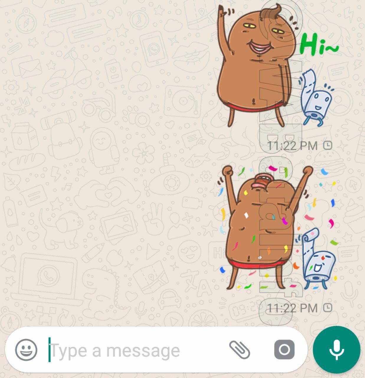 whatsapp sticker confirmare citire