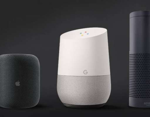 HomePod Google Home Amazon Echo