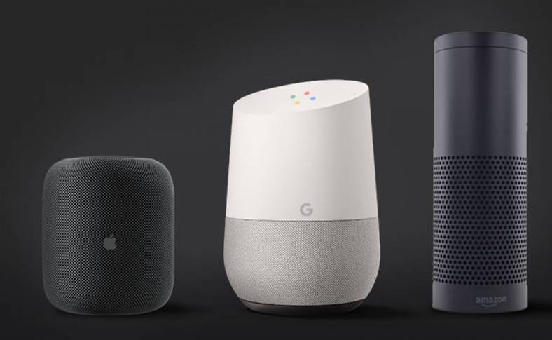 HomePod Google Home Amazon Echo