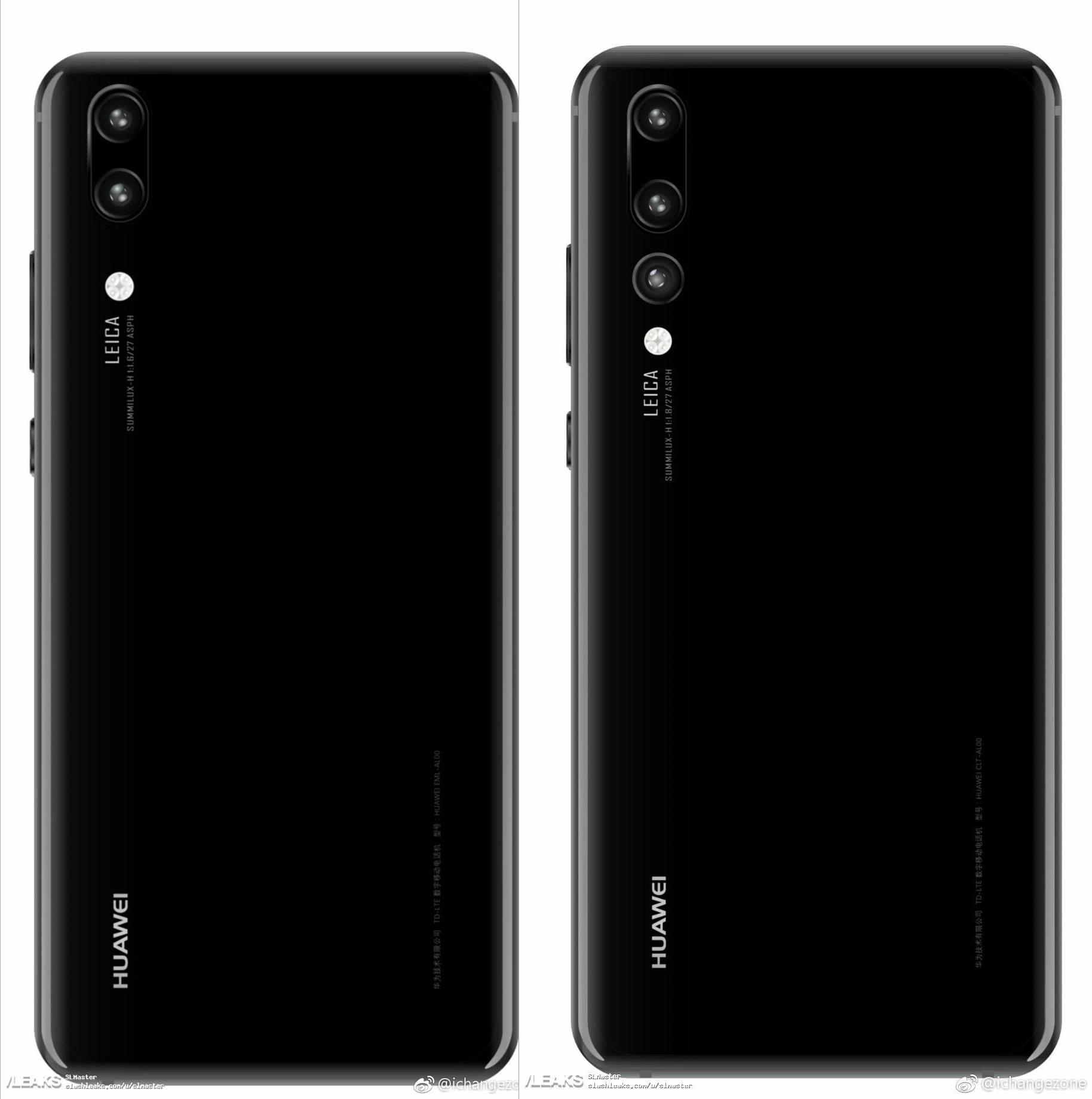 Huawei P20 si P20 Plus imagini
