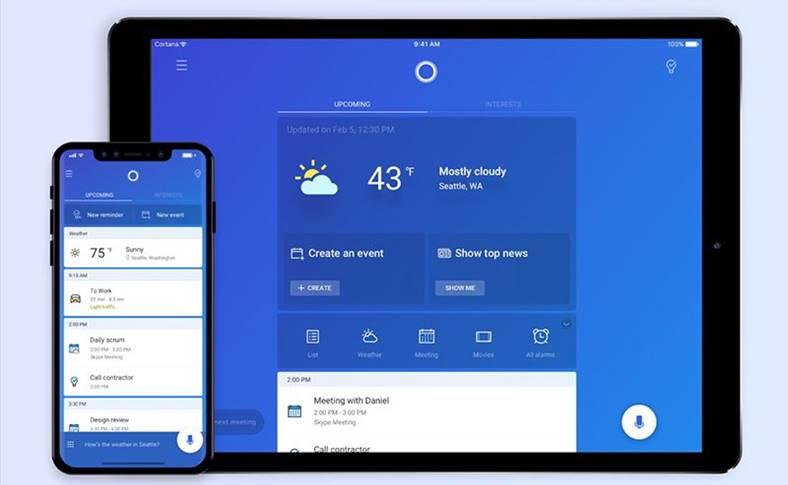 Microsoft Cortana iPad