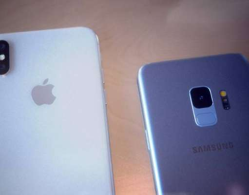 Samsung Galaxy S9 comparat iPhone X
