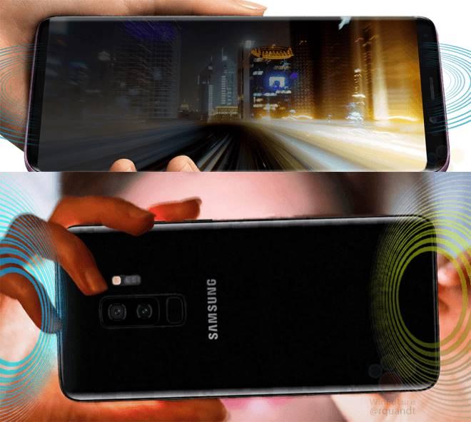 Samsung Galaxy S9 violet imagini presa stereo