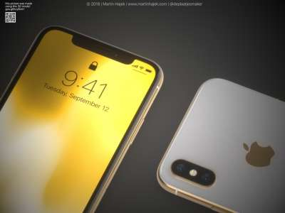 iPhone X auriu concept 1