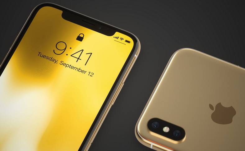 iPhone X auriu concept