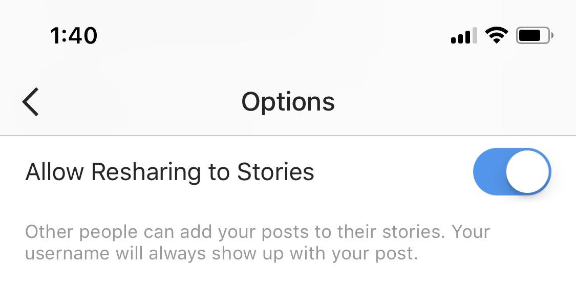 instagram resharing story postari