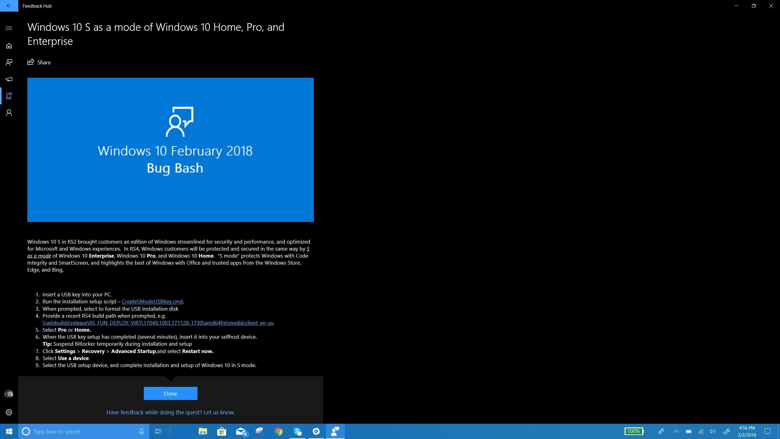 windows 10 s mode 1