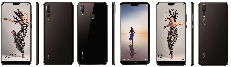Huawei P20 design imagini oficial