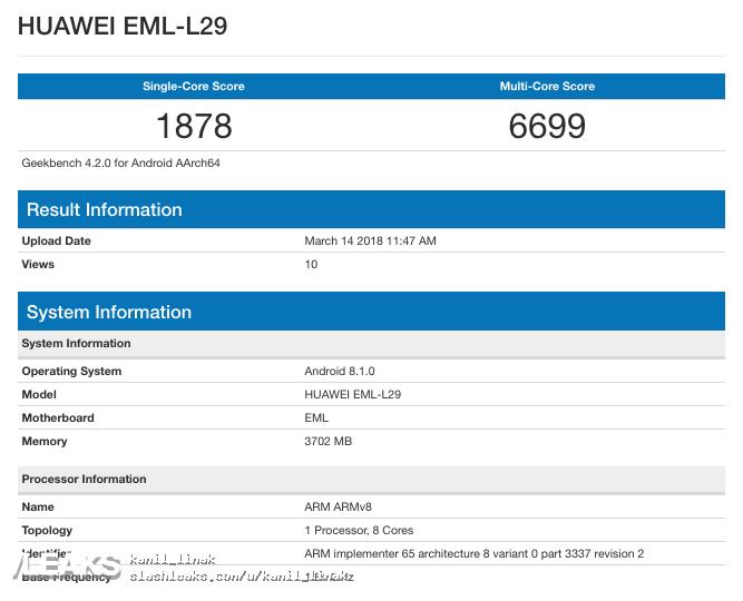 Huawei P20 performante test