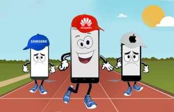 Huawei disperare reclama magazine Apple Samsung