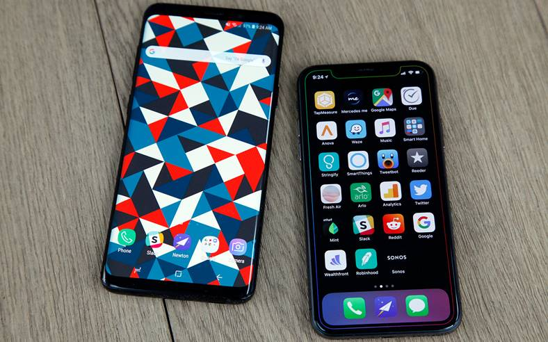 Samsung Galaxy S9 PROBLEMA Lacomie Apple iPhone X