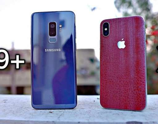 Samsung Galaxy S9 Plus iPhone X Exynos 9810 A11 Bionic