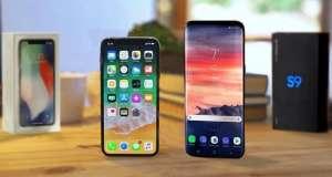 Samsung Galaxy S9 Plus iPhone X Note 8 OnePlus 5T Autonomia Bateriei live