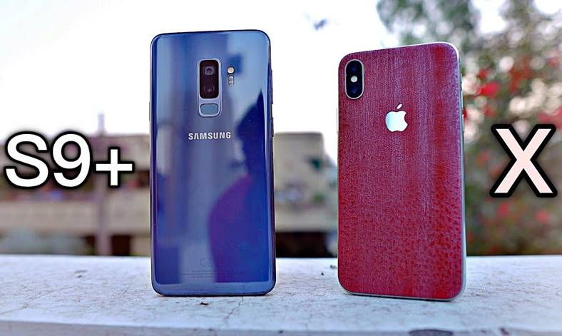 Samsung Galaxy S9 camere iPhone X