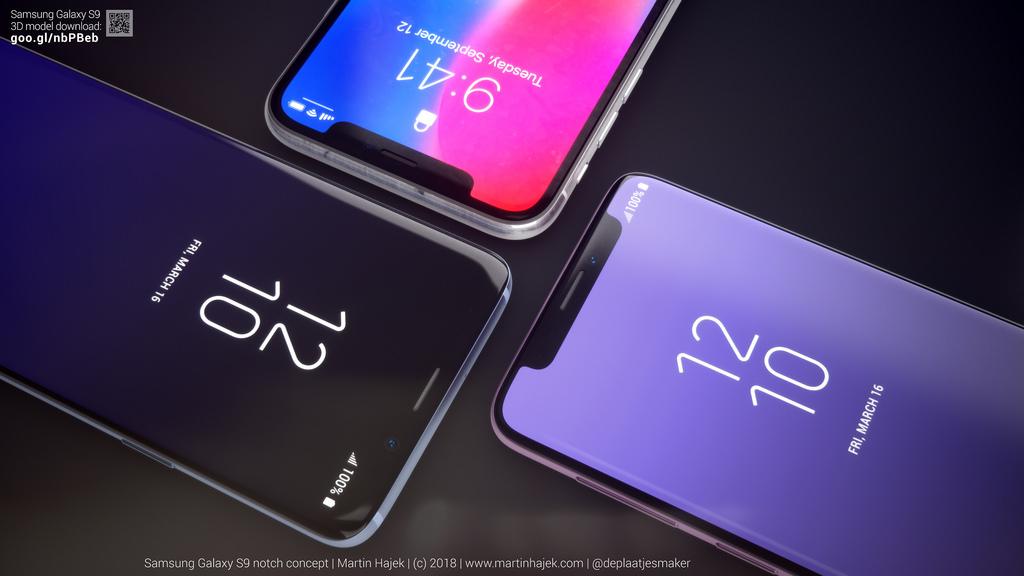 Samsung Galaxy S9 decupaj ecran concept