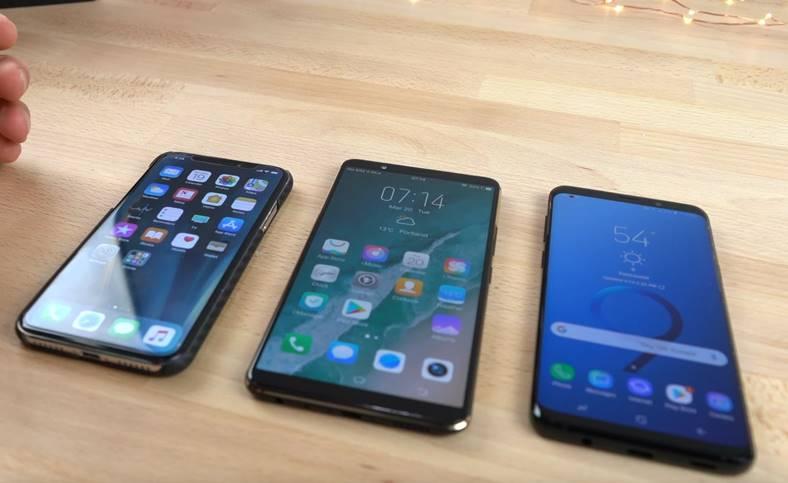 Samsung Galaxy S9 iphone x vivo x20 Intelligent Scan Face ID Cititor Amprente Ecran