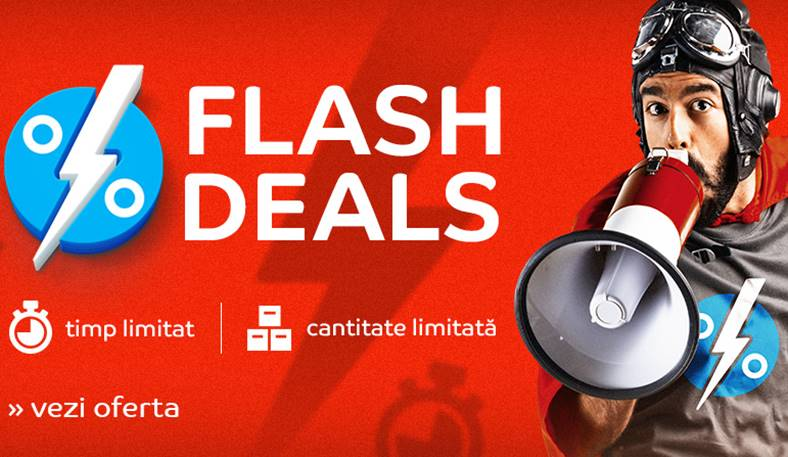 eMAG. Flash Deals. ULTIMELE MINUTE Reduceri Exclusive