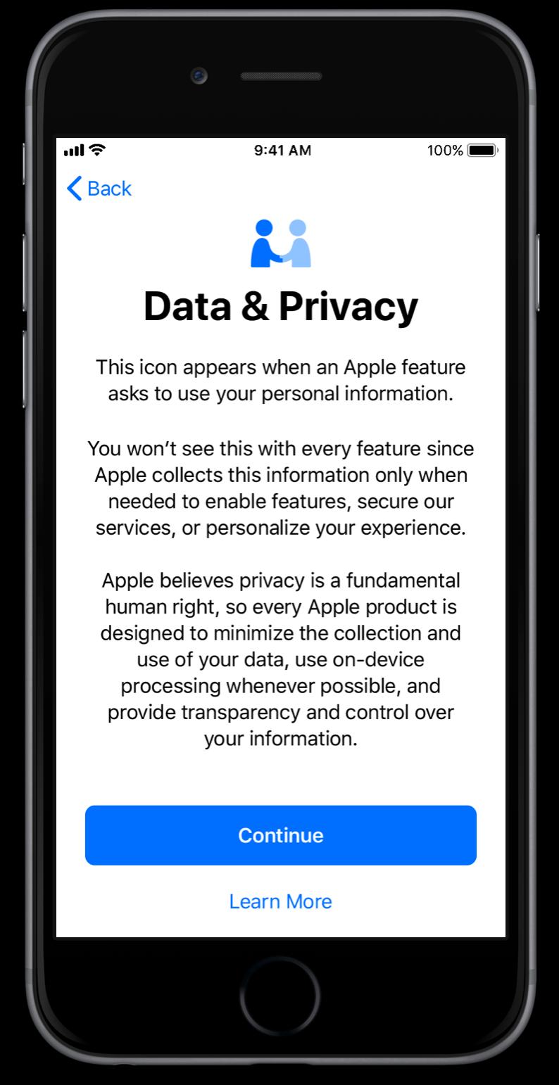 iOS 11.3 protectie date
