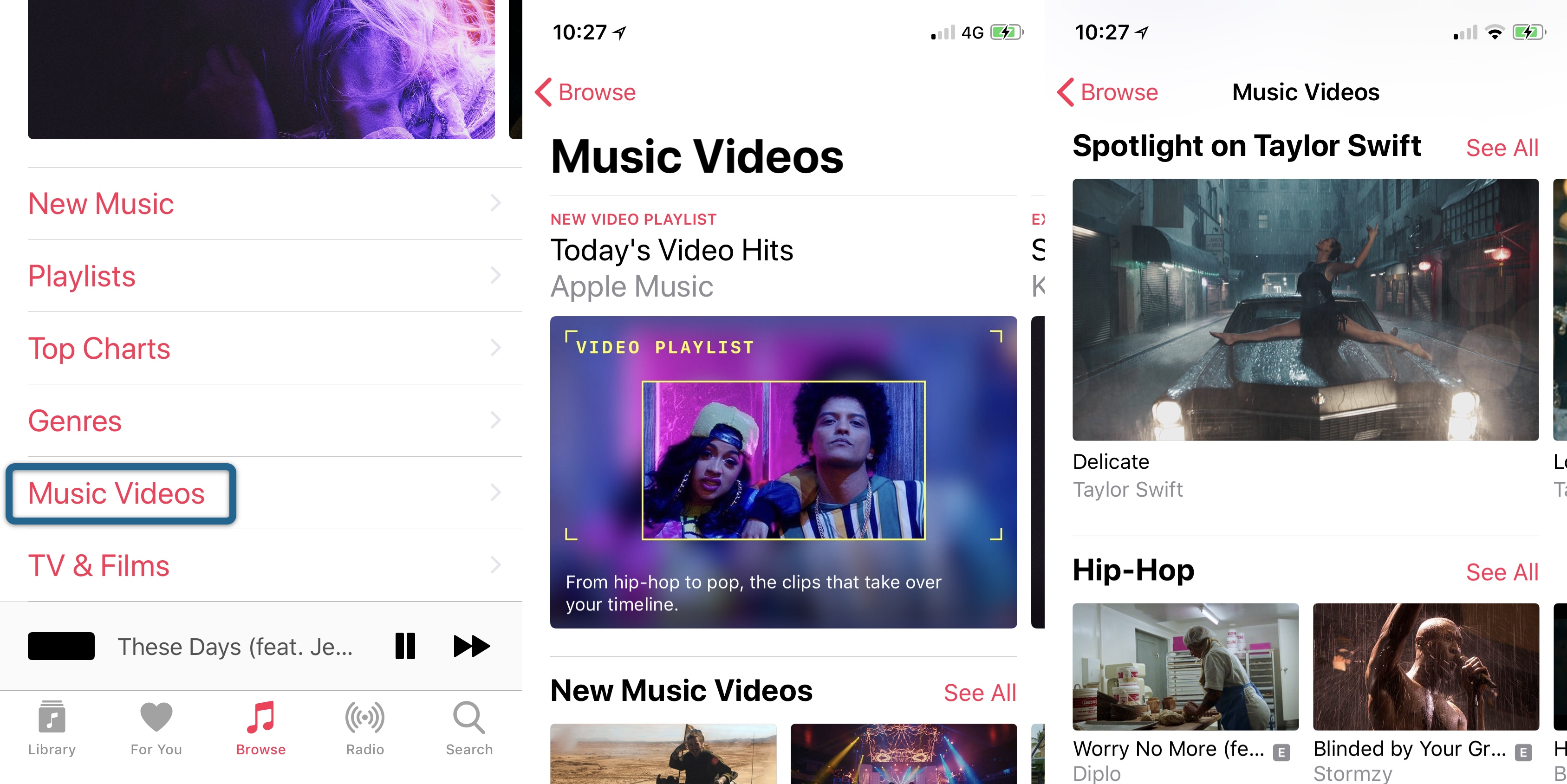 iOS 11.3 videoclipuri muzicale