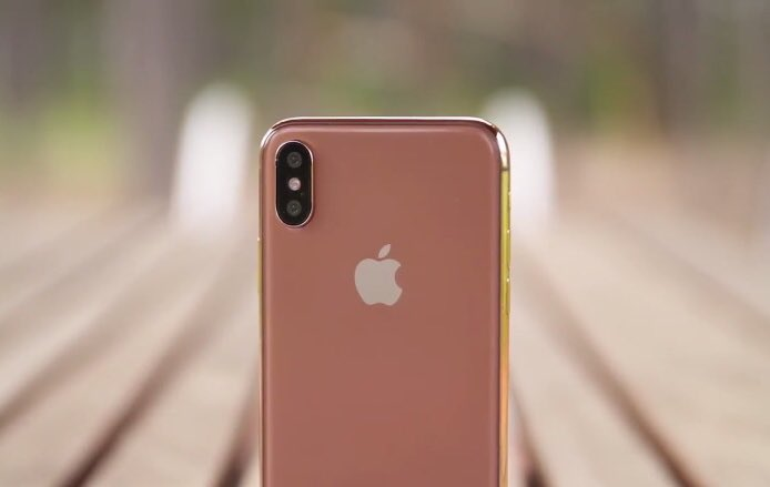 iPhone X auriu sampanie