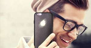iPhone carcasa logo iluminat